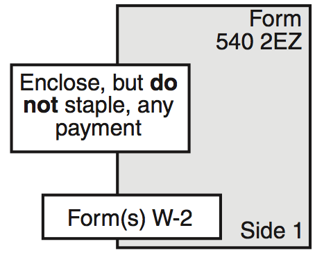 Diagram showing the order in which to assemble your tax return.